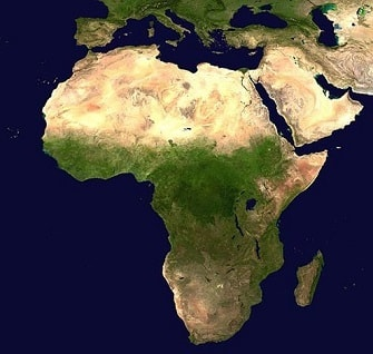 View of the African Continent