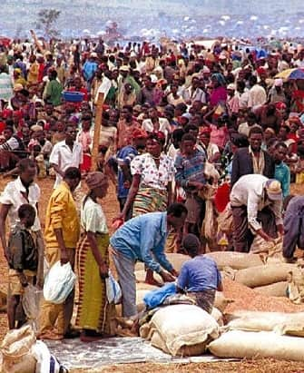 Crowd in Africa