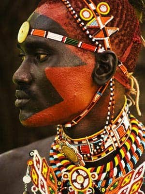 African tribal warrior